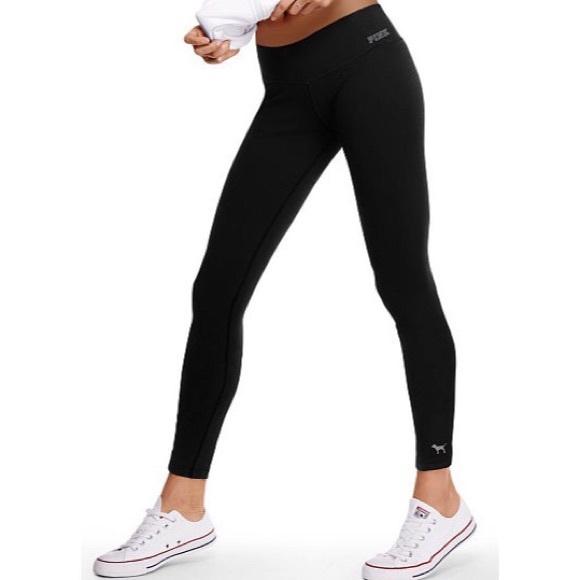 NWOT WOMEN/'S VICTORIA SECRET PINK ULTIMATE LEGGINGS// CROP BLACK CAPRIS XS,S,M,L